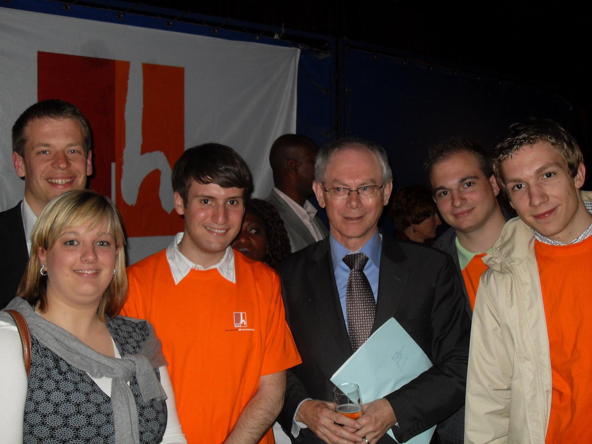 Melchior Wathelet reçoit Herman Van Rompuy, 1er Ministre.
